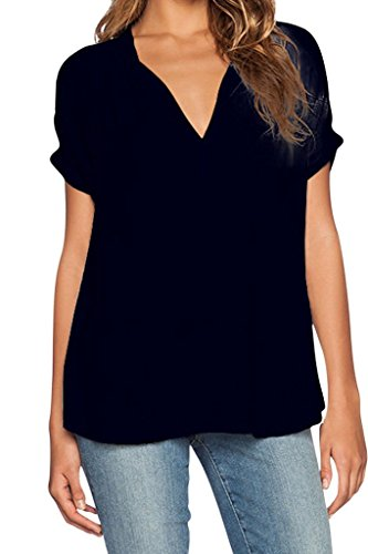 Chase Secret Womens Casual Shirt Tops Plus Size Blouse Clothing XX-large Black