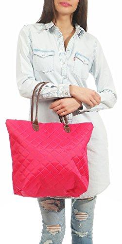 Donna tracolla Borsa rosa Trapuntata Shopper Zainetto fucsia Colori malito Manico T200 Borsetta Moda PdwTqXwYp