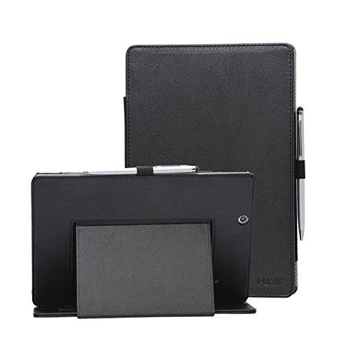 i-UniK 2016 version Nextbook Ares 10A Compatible Model #NX16A10132S Tablet Case Cover [Bonus Stylus Pen] (Black) ()