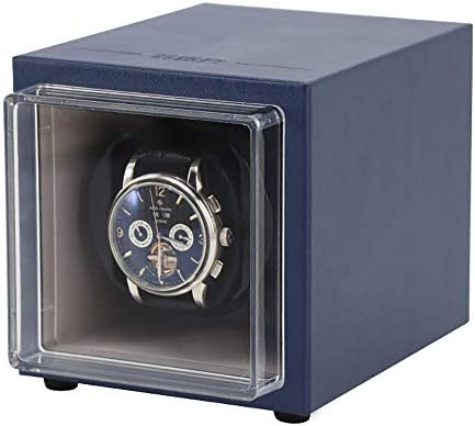 CHHMAELOVE Estuche Bobinadora para 2 Relojes,Cargador para Relojes AutomáTicos,Caja para Reloje Estuche Bobinadora Doble,Estuche Bobinadora para Relojes Caja para Reloje,Blue: Amazon.es: Hogar
