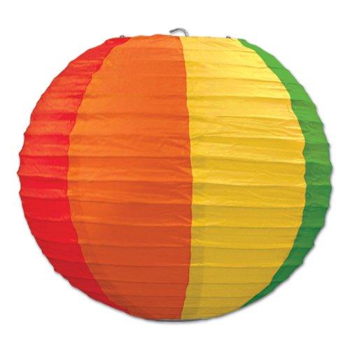 Beistle 3-Pack Rainbow Paper Lanterns, 9-1/2-Inch