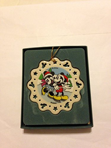 Disney Lenox Mickey & Minnie Skating Ornament - Lenox Skating