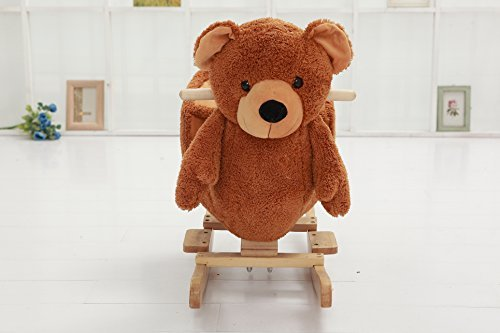 Rocking Horse Bears (DanyBaby Rocking Animal Ride On Rocking Plush Teddy Bear Chair Embroidered Words