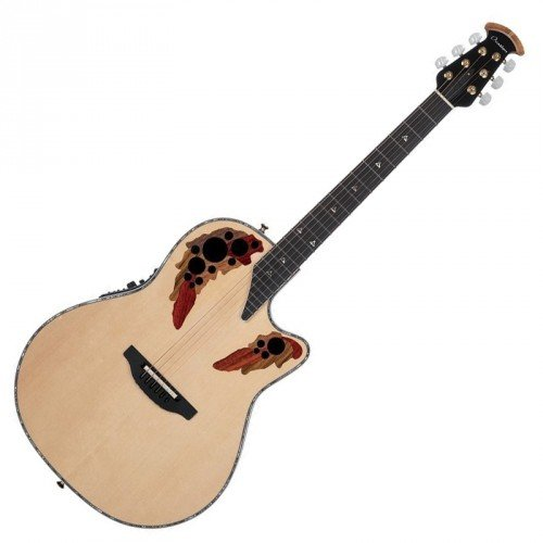 Ovation American LX Series 6 String Acoustic-Electric Guitar, Right, Natural, Deep Contour Body (C2078LX-4) (Adamas Acoustic Electric Guitar)