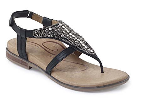 Aetrex Sheila Sandal (36, - Shoes Black Aetrex