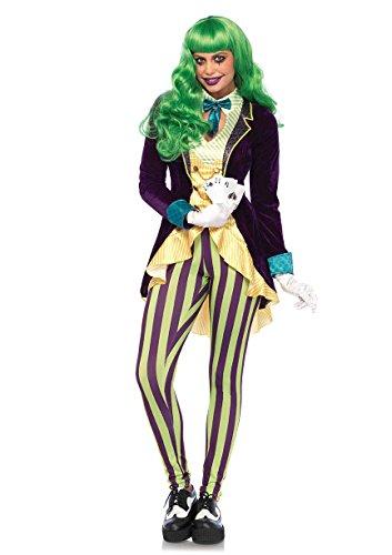 Leg Avenue Women's Evil Trickster Villain Costume, Multi, X-Small