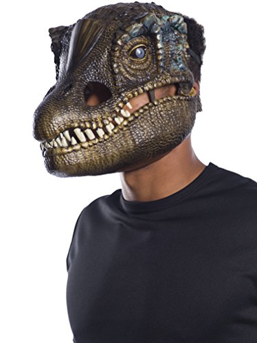 Moving Jaw Mask - Rubie's Men's Baryonyx Movable Jaw Adult Mask, Multi, Standard