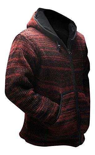 shopoholic FASHION tintura a riserva FESTIVAL con cappuccio in lana Hippy Giacca