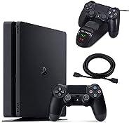 NexiGo 2020 Newest Playstation 4 PS4 Slim Console Holiday Bundle 1TB HDD PS4 Controller Charging Station 4K HD