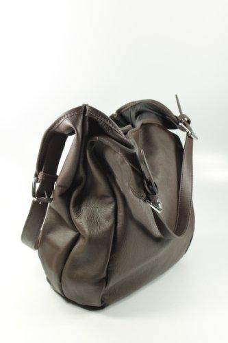 Belli - Bolso al hombro de cuero para mujer marrón marrón