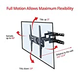 FLEXIMOUNTS A22 Full Motion articulating TV Wall Mount tilt Swivel Bracket fit for 32'-60' 4k HD LED LCD Screens