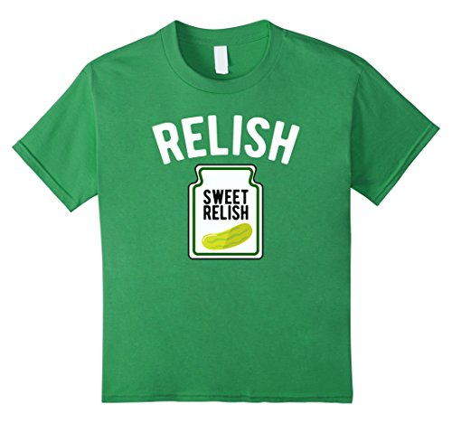 Kids Sweet Relish Funny Condiment Halloween Costume T-Shirt 12 Grass for $<!--$19.99-->