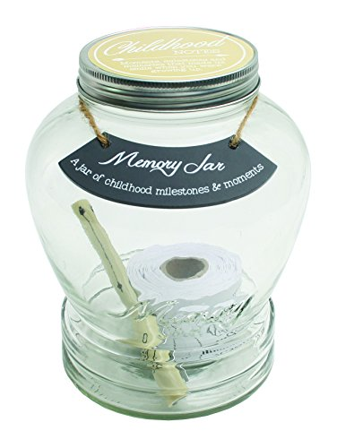 Top Shelf Childhood Memory Jar ; Unique Keepsakes for Newborns ; Thoughtful Gifts for Baby Showers and Birthdays ; Kit Comes with 180 Tickets and Decorative Lid Unique Baby Gifts Ideas
