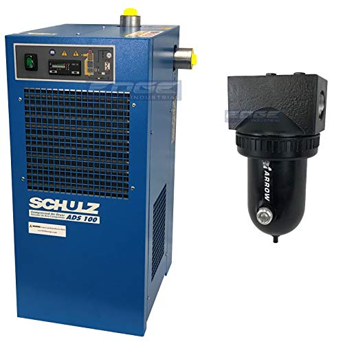 Schulz REFRIGERATED AIR Dryer for AIR Compressor, Compressed AIR Systems, 100 CFM, Good for 20HP & 25HP COMPRESSORS (with PRE-Filter)