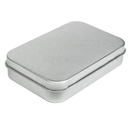 10 Silver Metal Tin Flip Money Coin Candy Keys Storage Box Case Holder Organizer