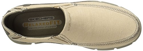 Skechers Usa Mens Broger Mendo Slip-on Loafer Beige