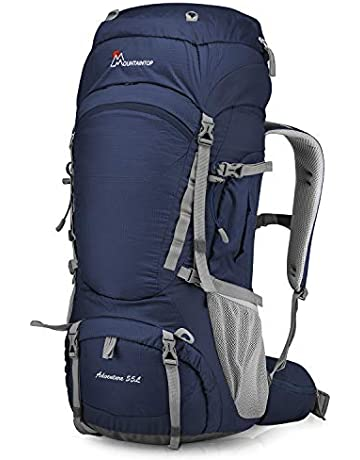 c6a4110eb4 MOUNTAINTOP 55L 75L 80L Hiking Backpack with Rain Cover