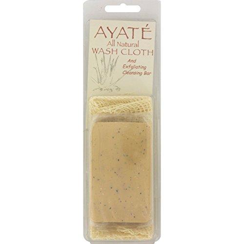 Thai Deodorant Stone Ayate All Natural Wash Cloth With Cleansing Bar - 1 Bar by Thai Deodorant Stone