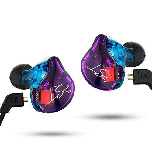 KZ ZST Pro Dynamic Hybrid Dual Driver In-Ear Headphones (Color without Mic) (Best In Ear Monitors For Drummers)