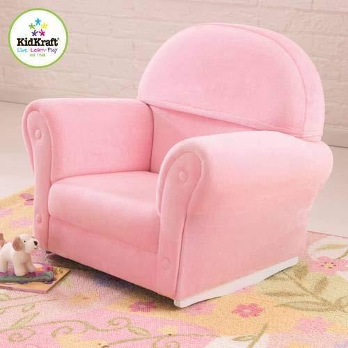 KidKraft Upholstered Rocker with Slip Cover, Pink by KidKraft