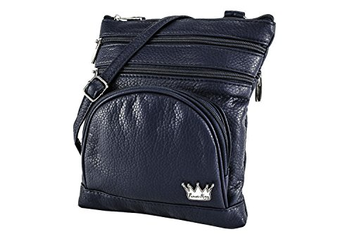 Duchess Dark Organizer Bag King Navy Blue Cross protected Body Purse RFID A1Rnq