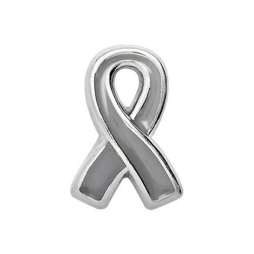 TK Lockets ~ BRAIN CANCER AWARENESS RIBBON CHARM