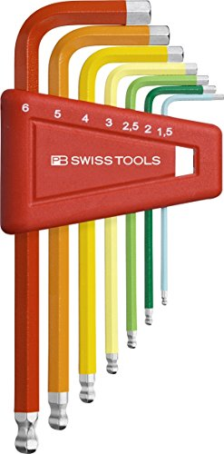 PB Swiss Tools PB 212H-6 RB Ballend Hex Key Set rainbow