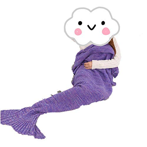 Bixiangji 毛布人魚人魚テールカバーニット (Color : The Purple, サイズ : 195*95cm) B07Q7P2Y4L The Purple 195*95cm