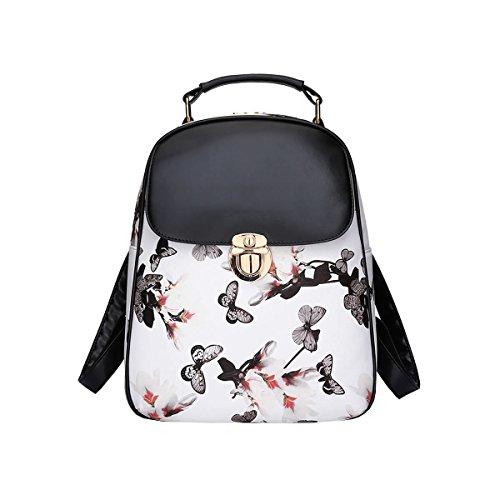 DISSA - Bolso mochila para mujer One size Weiß