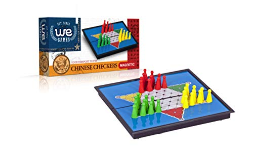 (Wood Expressions WE Games Travel Magnetic Chinese Checkers Board Game- 10 x 6 in. )