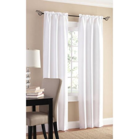 Mainstays Sailcloth Curtain Panel Set Of 2 56x63 White