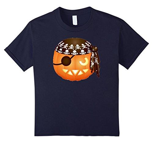 Kids JACK O LANTERN Shirt Pumpkin Pirate Halloween Costume Men 12 (Make It Yourself Pirate Costume)