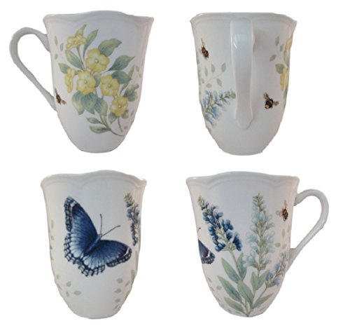 Lenox Butterfly Meadow Red Admiral 12oz. Mug (Set of ()