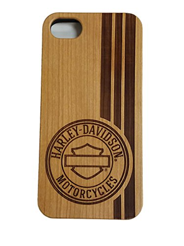 Harley Davidson Telephone - Harley Davidson Woodgrain and Black Protective Faceplate Cover for iPhone 7 and iPhone 8 (WILL NOT FIT PLUS SIZE PHONE)