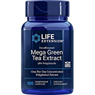Life Extension Mega Green Tea Extract (98% Polyphenols) Decaffeinated, 100 Vegetarian Capsules