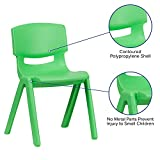 Flash Furniture 5 Pack Green Plastic Stackable