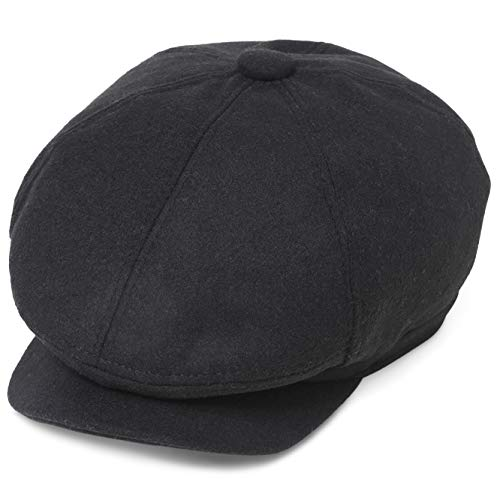 BABEYOND Newsboy Hat Cap for Men Women Gatsby Hat for Men 1920s Mens Gatsby Costume Accessories (Black) ()