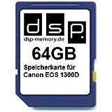DSP Memory Z-4051557436947 64GB Speicherkarte für Canon EOS 1300D
