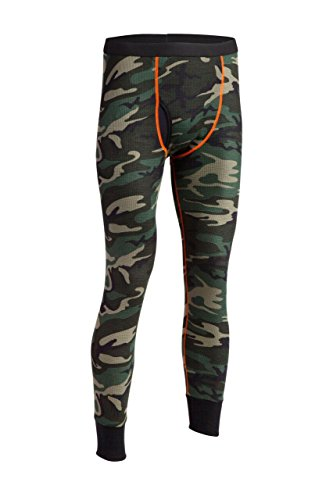 Indera Men's Woodland Camo Thermal Underwear Pant, Small ()