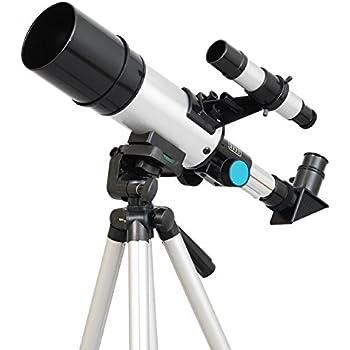 TwinStar 60mm Compact Refractor AstroVenture Telescope - Silver