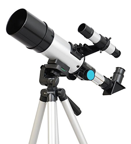 TwinStar 60mm Compact Refractor AstroVenture Telescope - Silver