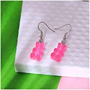 ANXIN 1 Pair Creative Cute Gummy Bear Earrings Gift