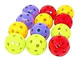1492 PK.12 Mini Hard Plastic Balls Bird Toy Parrot Parts Craft Foot Play kids