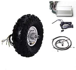 sarach store 14.5 Pulgadas 500W 48v Motor eléctrico sin escobillas del Cubo de Rueda sin escobillas