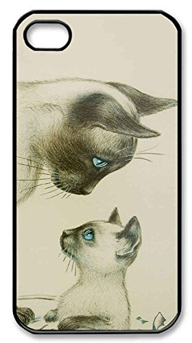 Custom Phone Cases iPhone 4/4S - DIY Cat Art Cell phones cases case for iPhone 4/4S
