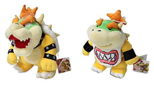 Sanei SetACSaneiBowserBJr Set of 2 Super Mario All Star AC10 and AC11 Bowser Jr. Stuffed Plush JVG INC. - CA