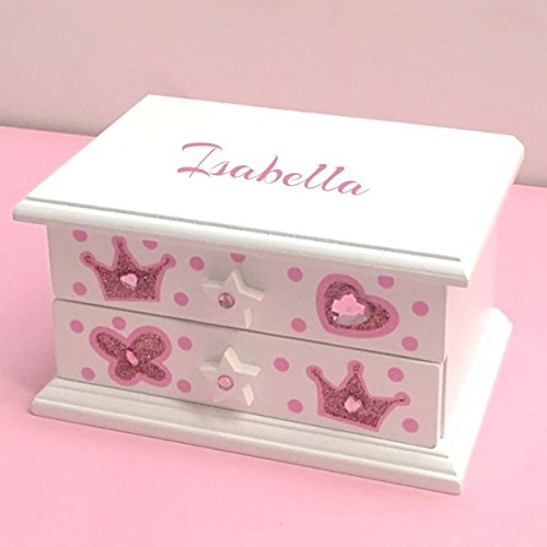 Personalized Sparkling Princess Ballerina Musical Jewelry Box