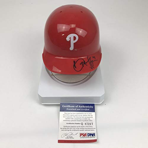 Autographed/Signed Bryce Harper Philadelphia Phillies Mini Baseball Helmet PSA/DNA COA