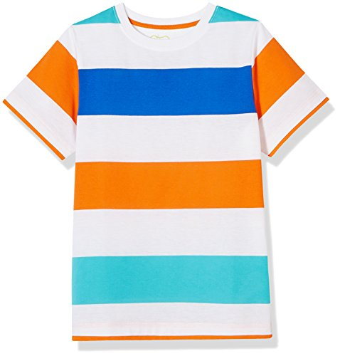 A for Awesome Stripe Short Sleeve Jersey Tee with Contrast Hem Medium Blue Stripe … (Jersey Tee Stripe)