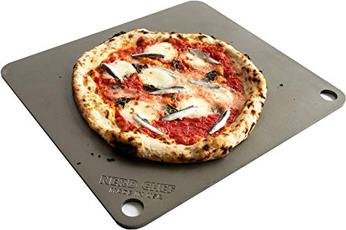Nerdchef Steel Stone High Performance Baking Surface For Pizza 14 5 X16 X1 4 25 Thick Standard